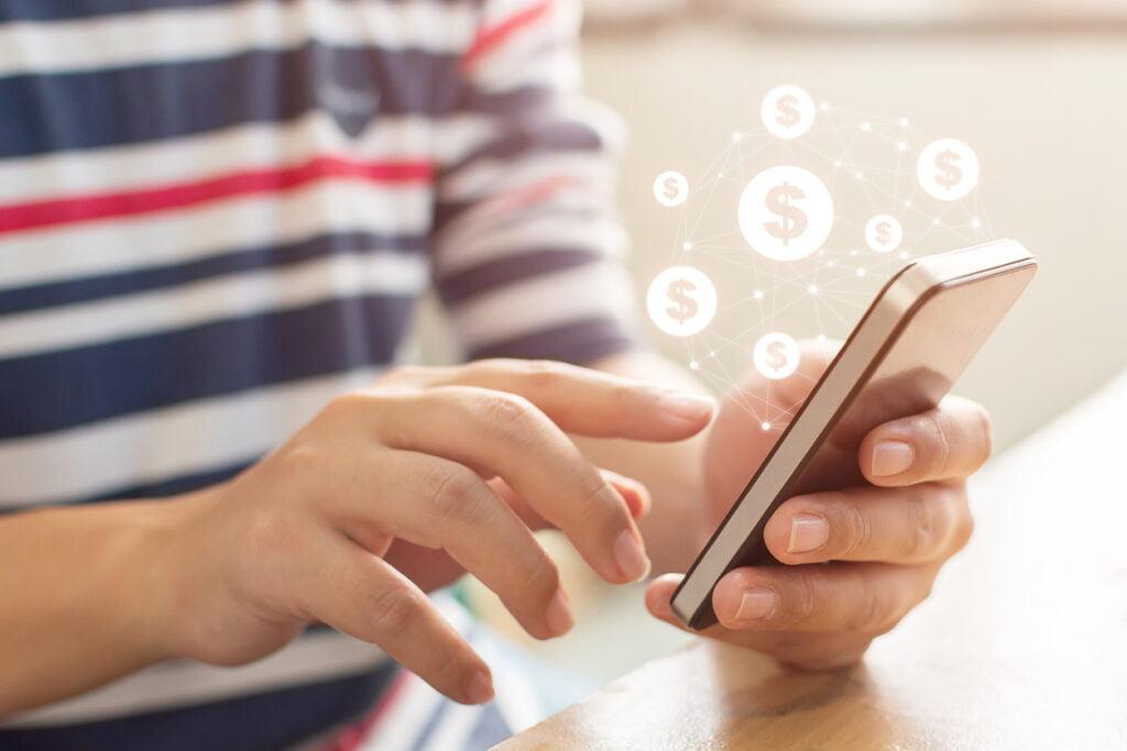 transferencia online vía banca móvil